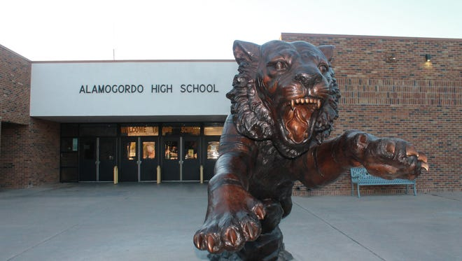 In this file photo, Alamogordo High School's tiger statue is on display.