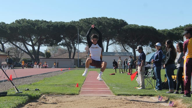 Sophomore Fernando Garcia set a career best jump of 22 feet, nine inches in the long jump at the Gary Shaw Festival March 3. That mark is the third best in the state and qualifies him for the state championships in May.