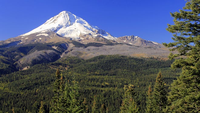 Views of Mount Hood highlight the trek to Ponderosa Point.