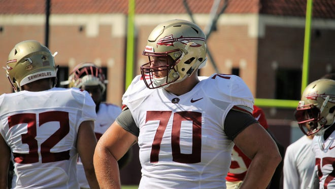 FSU offensive guard Cole Minshew during practice on Aug. 11, 2018.