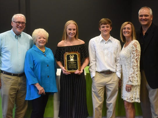 Hannah Pfeifer was named the Jim Holsted Athlete of