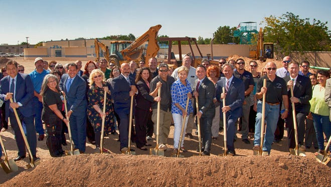 State and local dignitaries were involved in Thursday's ground-breaking ceremony at Mimbres Memorial Hospital.