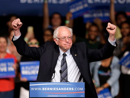Democratic presidential candidate, Sen. Bernie Sanders,