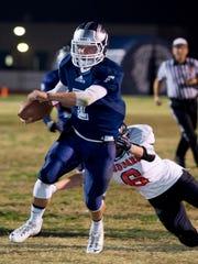 Farmersville quarterback Sam Metcalf led the Aztecs to a Central Section Division VI championship in 2013.
