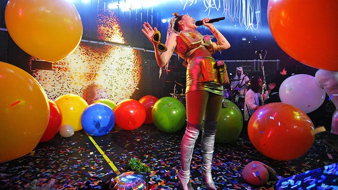 Miley Cyrus fronts Miley Cyrus and her Dead Petz Saturday at the Fillmore Detroit.