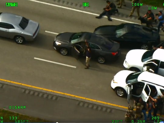Several agencies arrested three suspects on Interstate