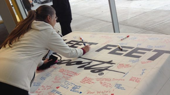 A local runner shares some well wishes for the 2014 runners.