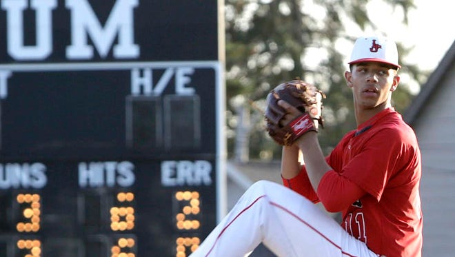 Lafayette Jeff junior Chandler Ferguson struck out 14 in a win over Lebanon Tuesday in his season pitching debut.