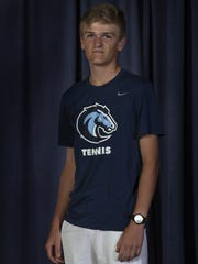 Connor Nelson, Christian Brothers Academy - All Shore Boys Tennis Team in Neptune, NJ on May 24, 2017.