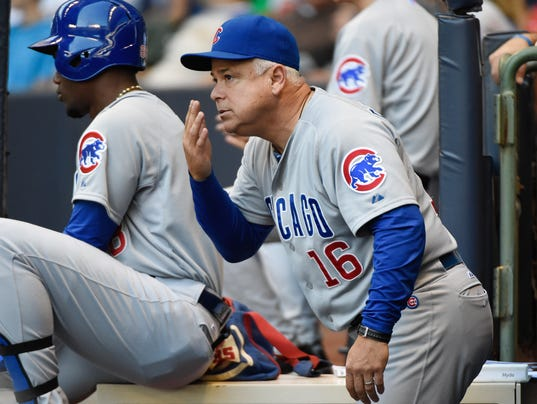 USP MLB: CHICAGO CUBS AT MILWAUKEE BREWERS S BBN USA WI