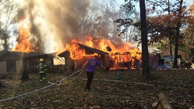 Fire destroys home in Benton