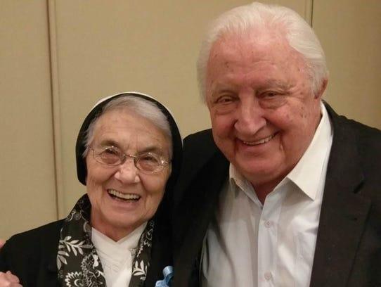 Sister Nicolina Spolzino and Angelo Bianchi were honored
