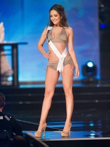 Dajana Dzinic, Miss Austria 2016 competes on stage