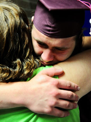 Graduate Tyler Beam is emotional after reaching his