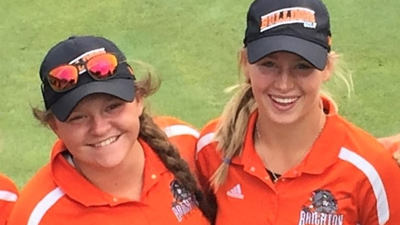 Heather Fortushniak and Annie Pietila of Brighton are Co-Golfers of the Year on the All-Livingston County team.