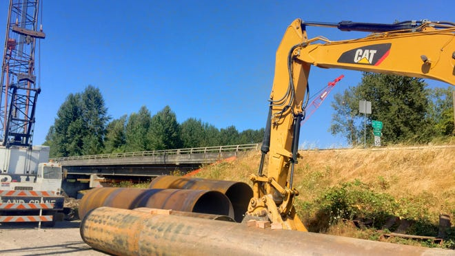 The North Santiam Bridge, which connects Stayton to Linn County, is undergoing designed improvements that include seismic retrofit to protect the bridge from failure during a significant earthquake event.