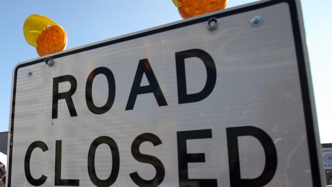 Route 206 near Amwell Road in Hillsborough is closed in both directions Monday evening.