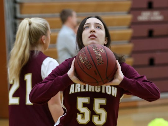 Arlington High School unified basketball player Lindsey