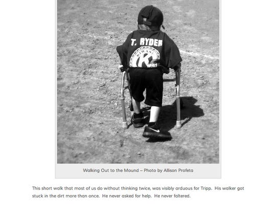 Tripp Ryder was the subject of a heart-tugging blog post by Staunton writer Allison Profeta. June 2014