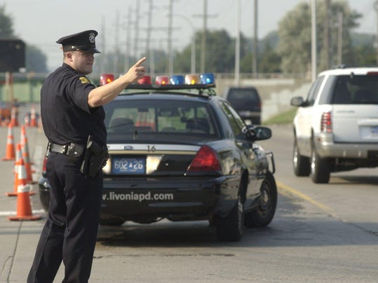 Livonia police direct traffic