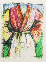 "Jim Dine, ""Olympic Robe"", Lithograph, 1988."