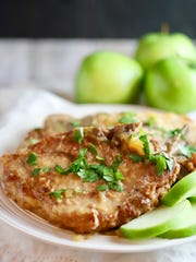 Granny Smith apples pair with pork chops in the slow