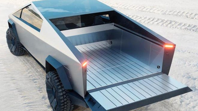 Tesla says a new factory it plans to build will make the company's upcoming Cybertruck electric pickup, as well as be a site for buildings its Model Y SUV. Tesla is considering a location in Travis County for the factory.