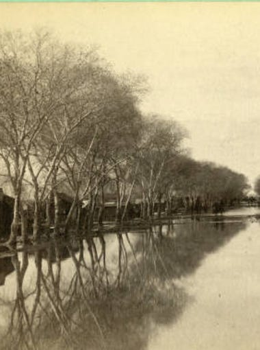 1891: Phoenix neighborhood after The Great Flood. 15 deaths were reported in Clifton and resulted in $1 million in damages.