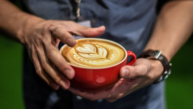 File picture - a cafe latte.