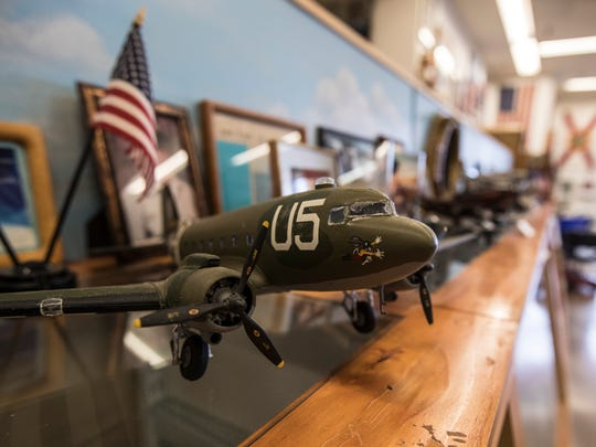Model WWII airplanes are on dislpay at The Southwest