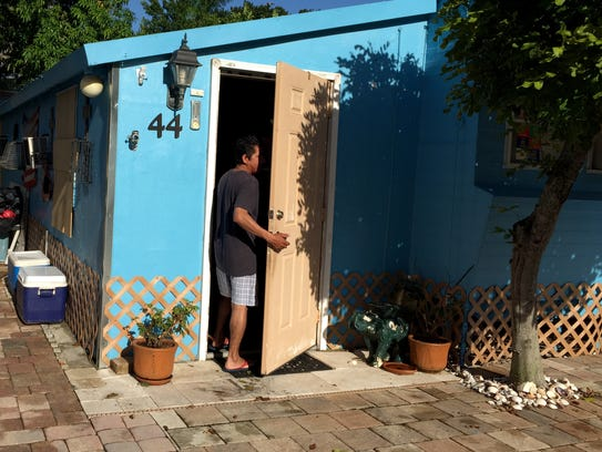 Francisco Zorita lives in a mobile home in Tropical