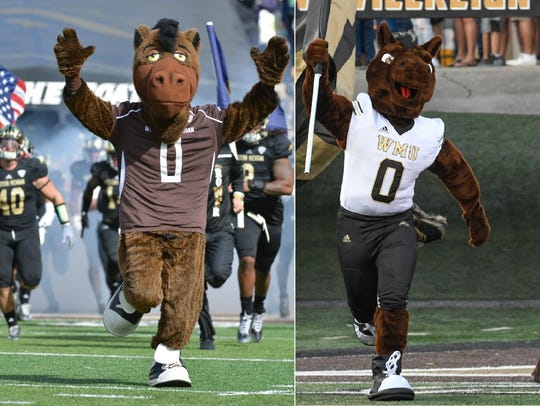 Western Michigan University mascot Buster Bronco in