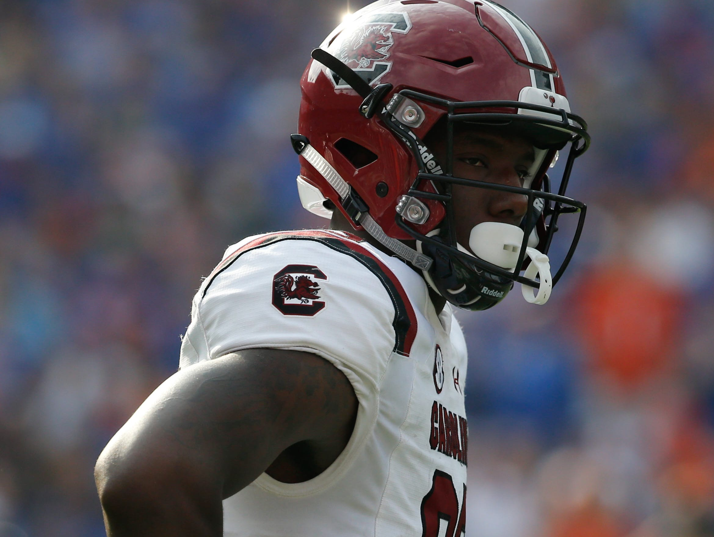 South Carolina's three wide receiver offensive plans in 2017 should often target Bryan Edwards (89).