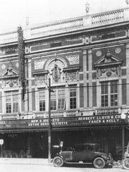 The original Strand Theatre in downtown Pontiac in