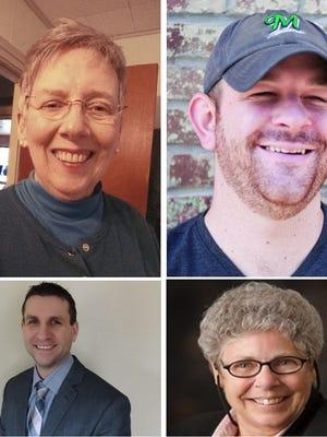 Clockwise from top left: Mary McComb, Garrett Ryan, Mary Kneebone, Bryan Van Stippen