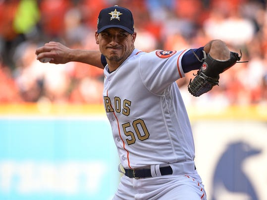 Houston Astros starting pitcher Charlie Morton delivers during the first inning of a baseball game against the Baltimore Orioles, Monday, April 2, 2018, in Houston. (AP Photo/Eric Christian Smith)