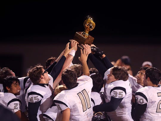 Water Valley celebrates their District 8-1A Division