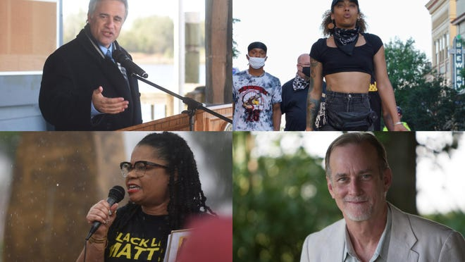Wilmington Mayor Bill Saffo (clockwise), local protest organizer Lily Nicole, local historian historian Chris Fonvielle Jr., and local Black Lives Matter movement leader Sonya Patrick are among those who talk about what's next after Wilmington's recent instances of historic changes.
