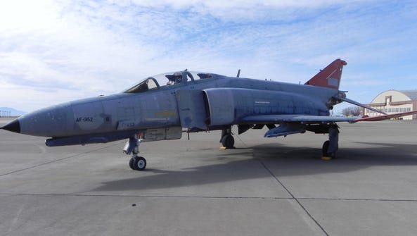 This F-4 at Holloman Air Force Base was saved from