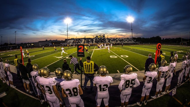 Andover Central lined up against Valley Center in Week 5. They will look to get win No. 4 against Salina Central on Friday night.