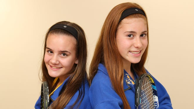 Laina Campos and Vanessa Ciano, freshmen at The Ursuline School in New Rochelle, are The Journal News' Westchester/Putnam tennis co-players of the year. Dec. 17, 2015.