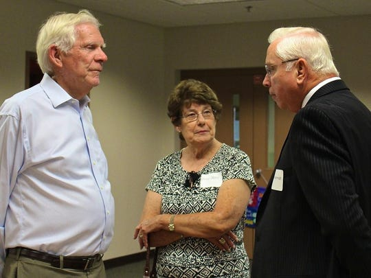 Ralph and Irma Drees visit with BAWAC president Ken