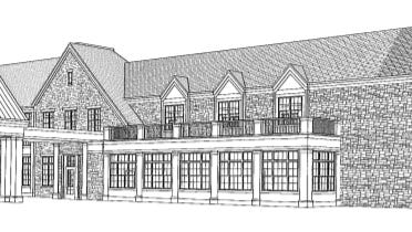 A 54-unit assisted living center would replace Glendale's former Masonic Lodge under a new proposal.