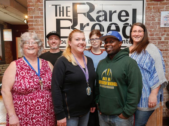 The staff at Rare Breed are, from left, Melanie Childers,