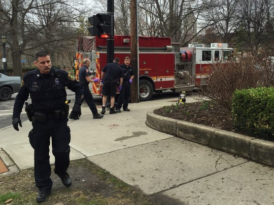 Bangs Ambulance and Ithaca Police responded to reported