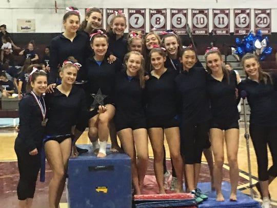 The Pascack Regional gymnastics team claimed its third