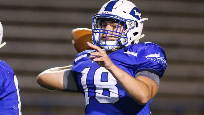 Henry Nickias, who was a three-year starter at quarterback for the Lake View Chiefs, signed a participation agreement on Thursday, Feb. 8, 2018, to continue his football career at Angelo State University.
