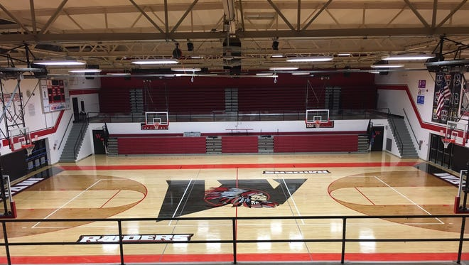 Wapahani's new gym floor