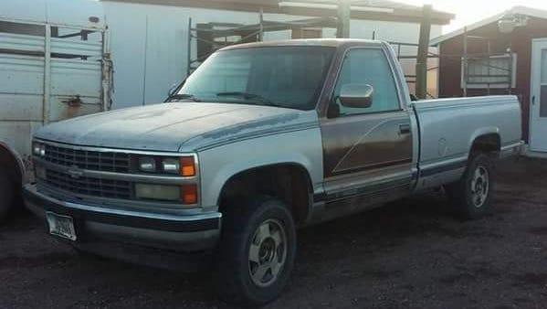 The 1988 Chevrolet truck believed to belong to homicide victim Adam Petzack.