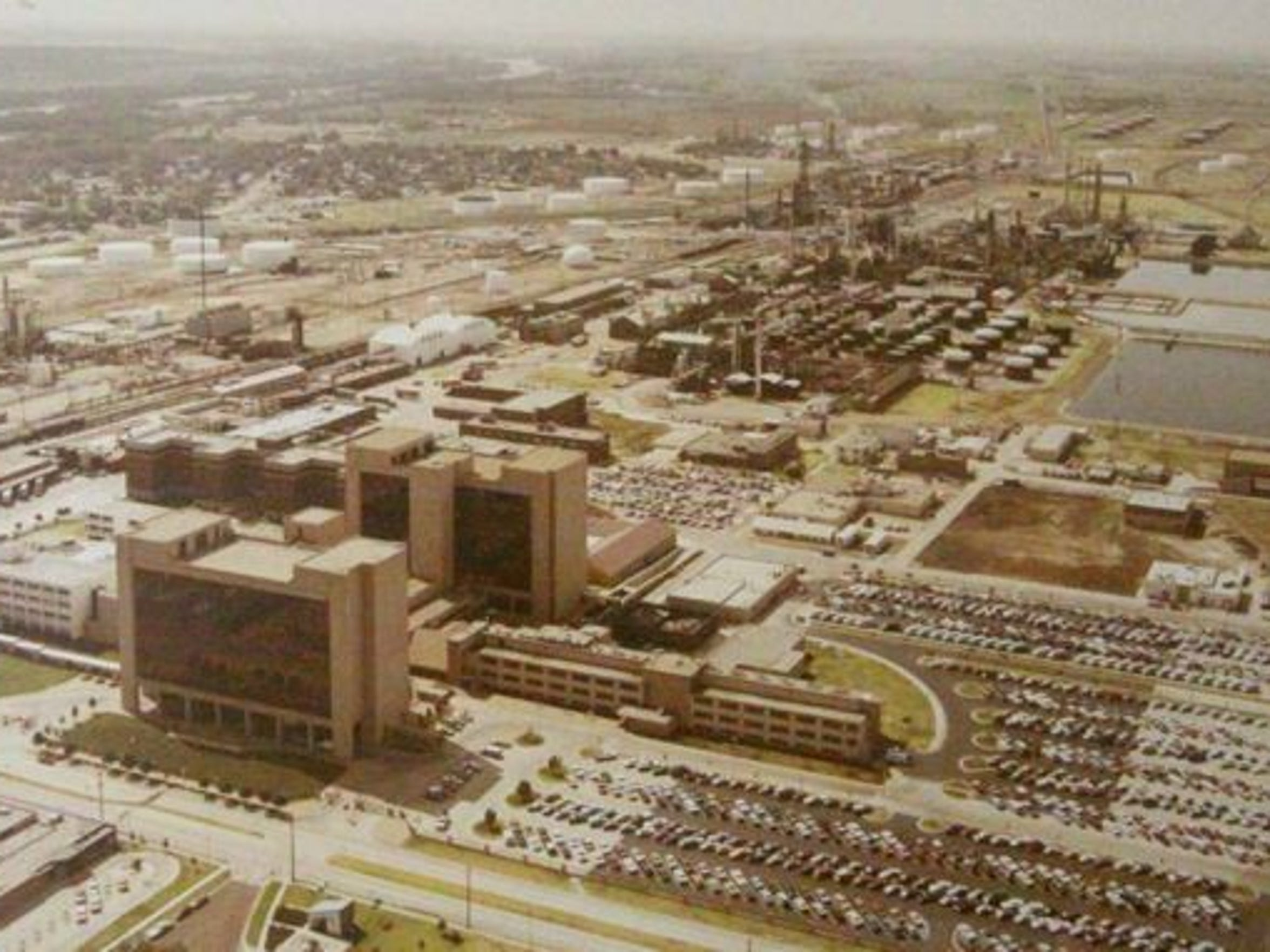 ConocoPhillips' Ponca City, Oklahoma plant is seen during its heyday in 1984.